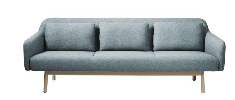 FDB Møbler - Gesja 3-sits soffa - Petrolblå