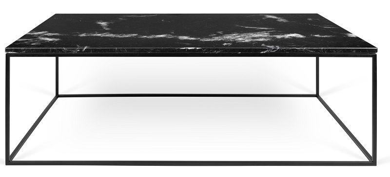 Temahome - Gleam Soffbord - Svart m/Svarta ben 120 cm