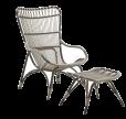 Sika-Design - Monet Loungestol - Mocaccino