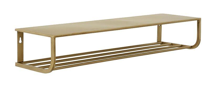 Nordal - Hatthylla L80 cm - Guld färgad Metall