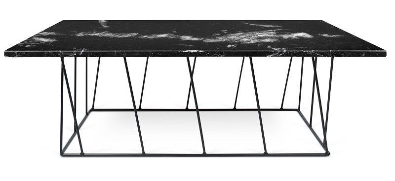 Temahome - Helix Soffbord - Svart m/Svarta ben